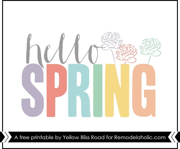 25 Free Printables For Spring Yellow Bliss Road