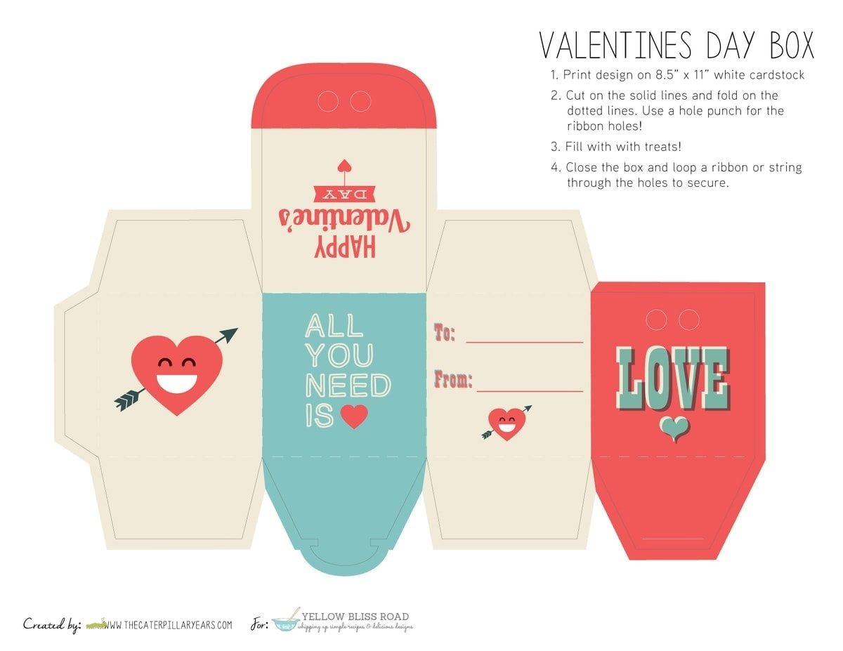 Printable Valentine S Day Treat Boxes