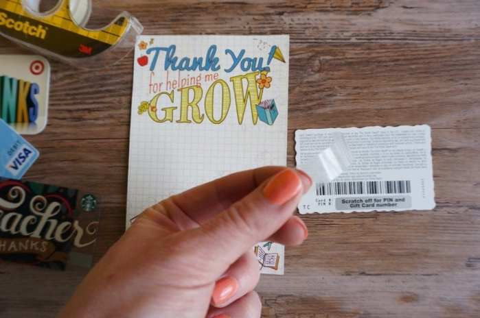 Free thank you gift card printable for a teacher