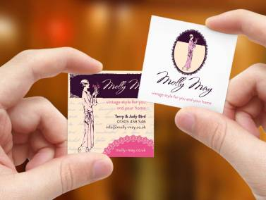 Molly May double sided business cards