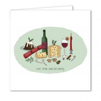 Traditional Christmas Food Card