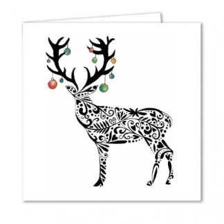 Reindeer with Christmas Baubles