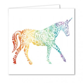 Unicorn Pattern Card