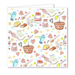 Baking Accessories Greetings Card