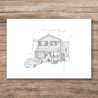Personalised house drawing