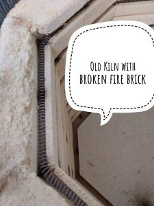 Old kiln with broken brick