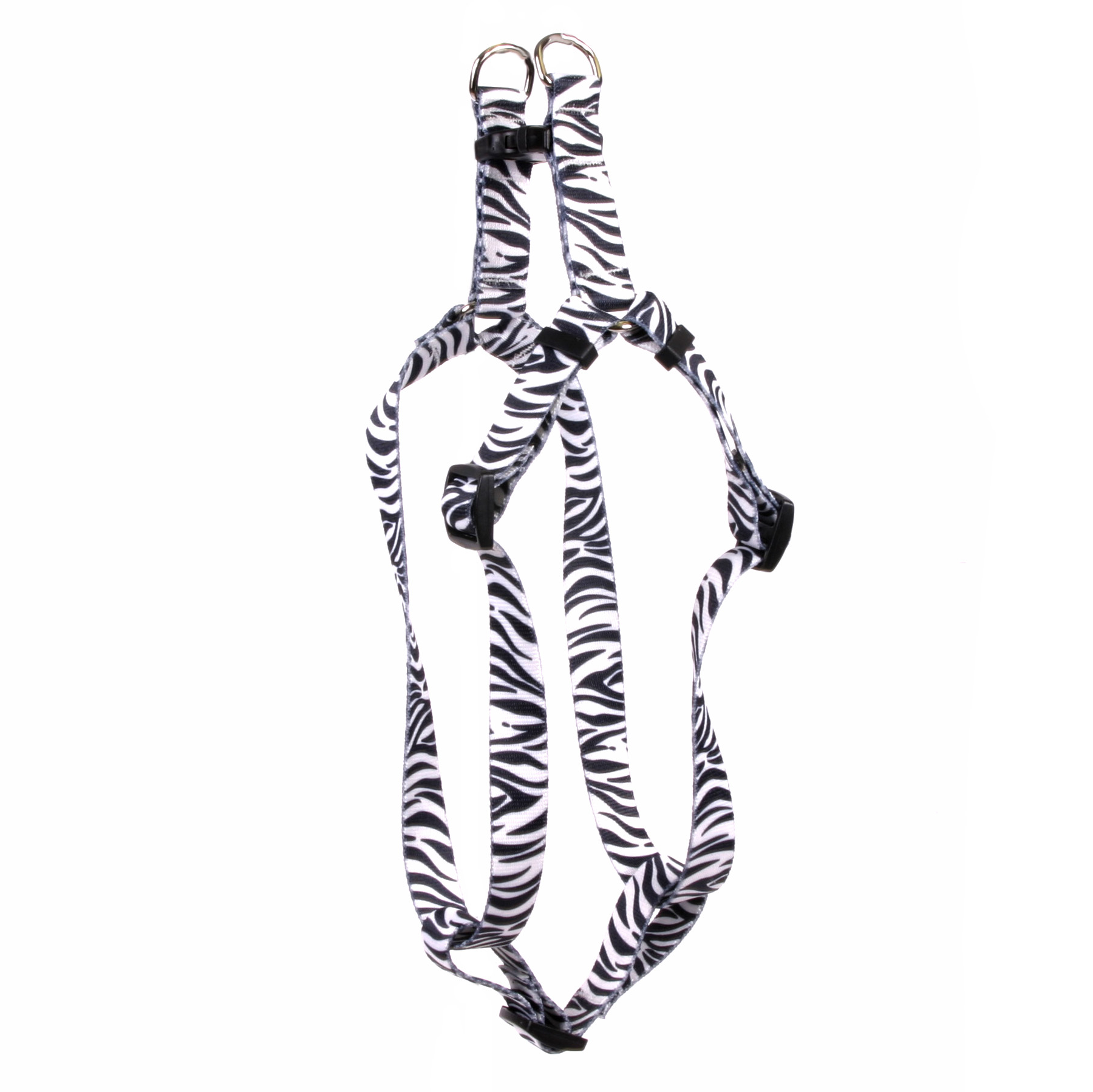 Zebra Black Step In Harness By Yellow Dog Design
