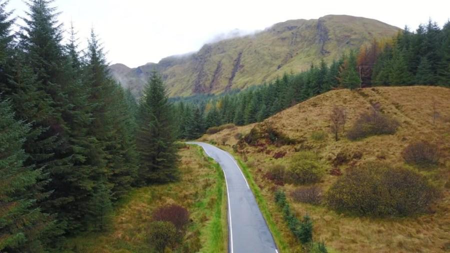 hells glen 2 1024x576 - A long weekend cycling on Scotland's Adventure Coast – Argyll