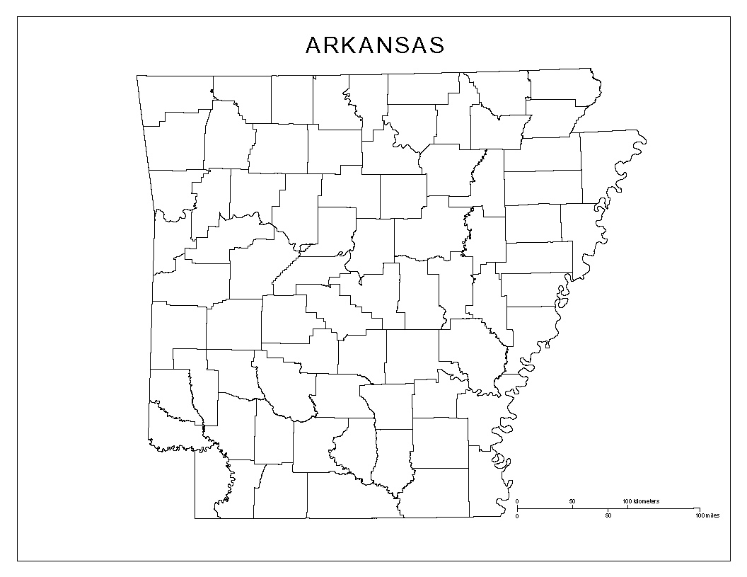 Arkansas Blank Map