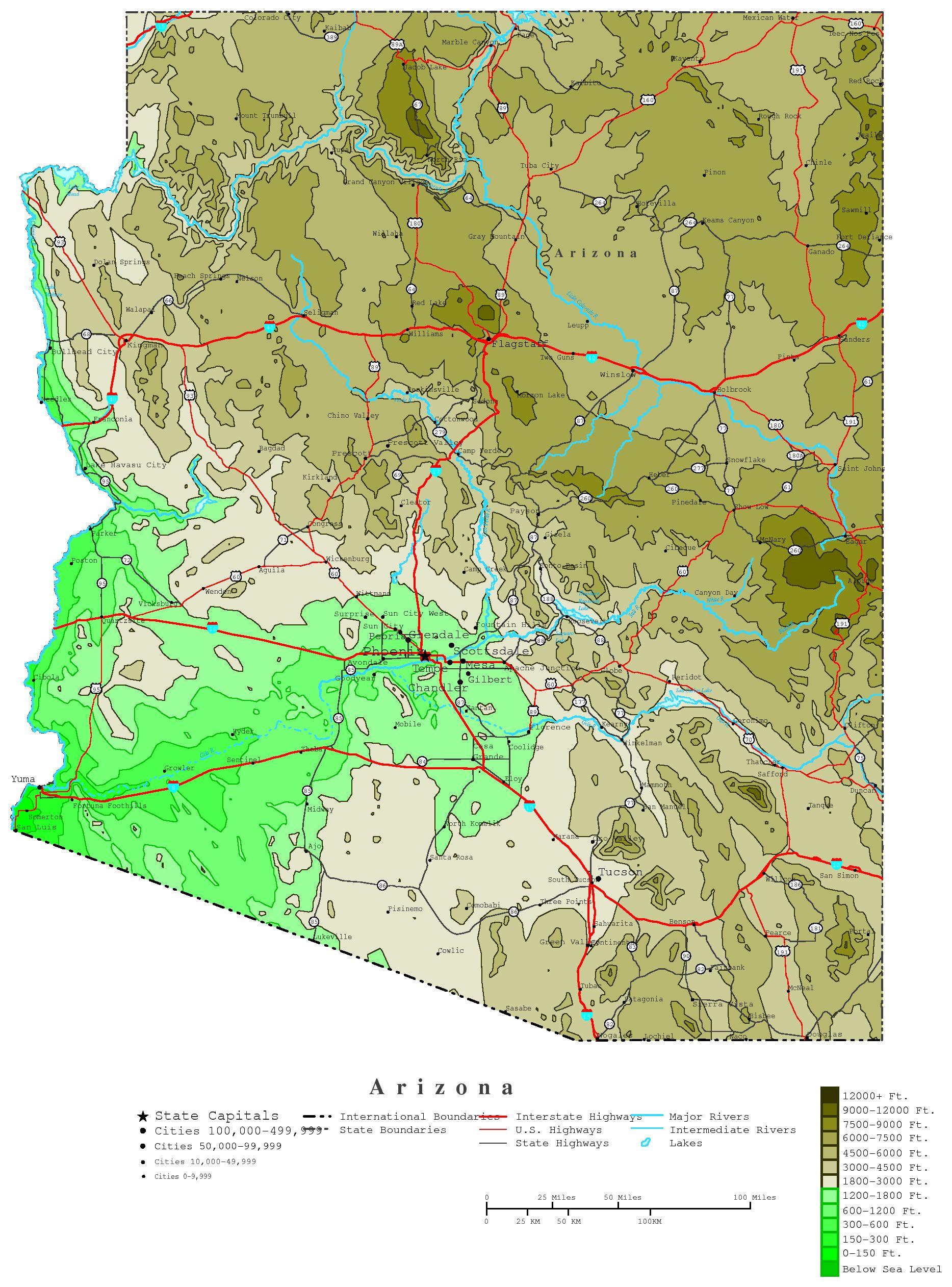 Map Of Washington Mountain Ranges