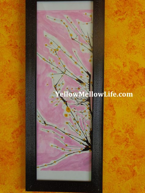 Cherry Blossom Paintings Are Very Quick And Easy To Make You Dont Require Anything Special As Such Just A White Sheet Some Paint Colors