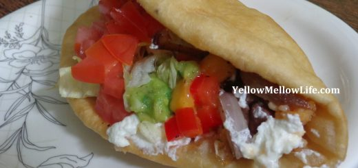 mexican dinner - stuffed chalupa