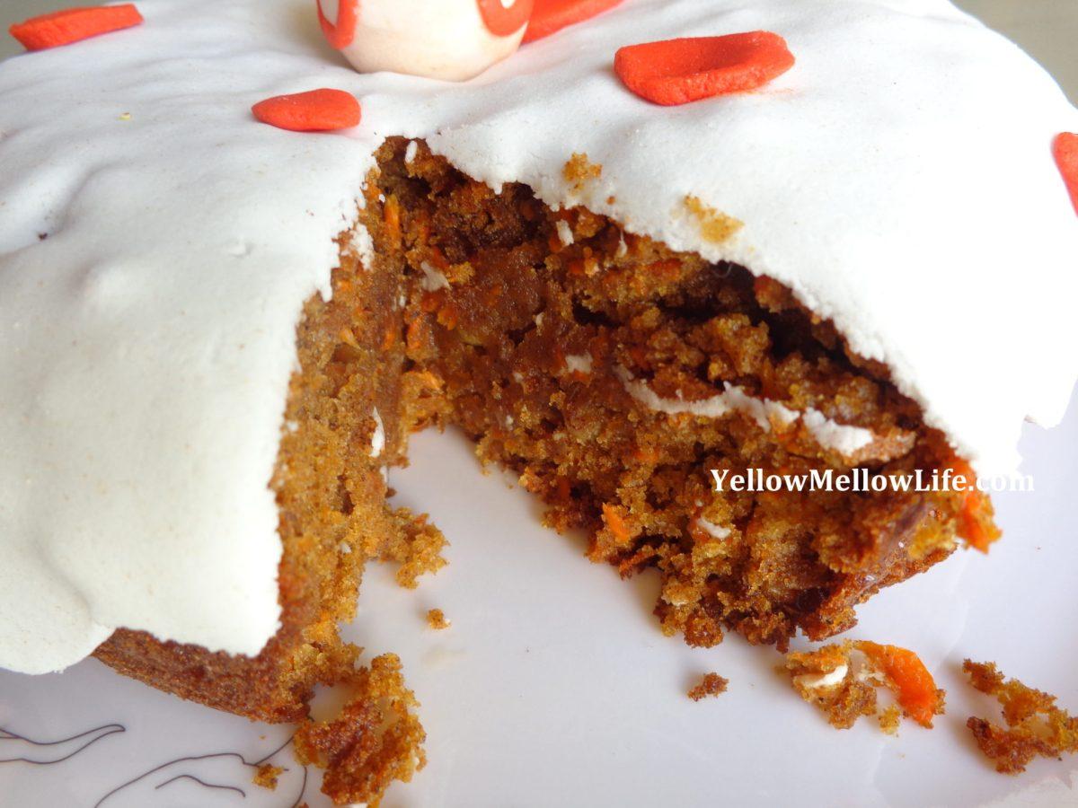 wheat flour carrot cake
