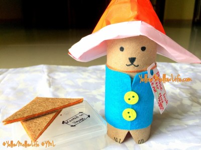 Paddington bear tissue roll craft