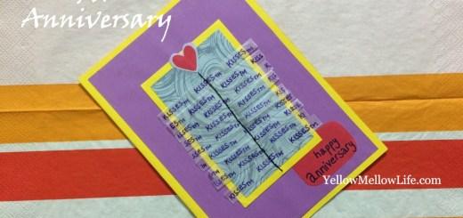 handmade anniversary card idea for chocolate lovers