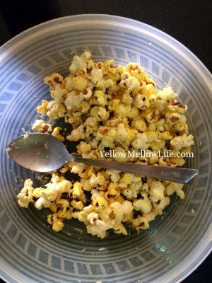 parmesan garlic butter popcorn