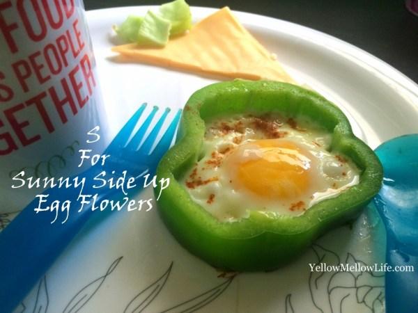 Sunny Side Up Egg Flowers
