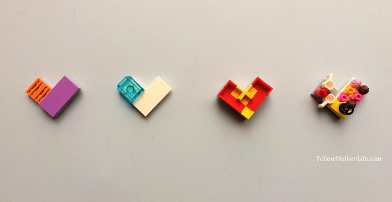 Valentines day lego hearts