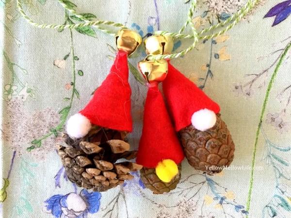Pine Cone Santa Christmas Ornament