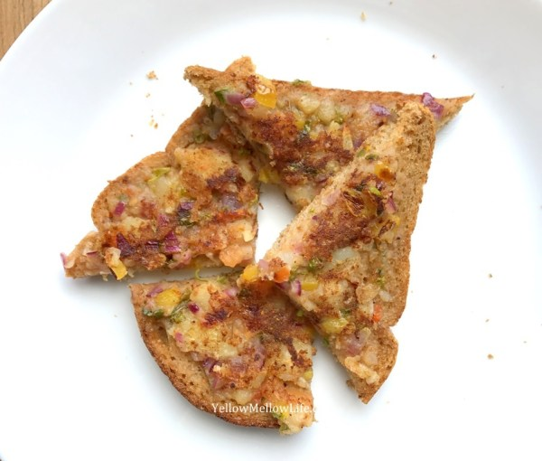 pao bhaji masala toast
