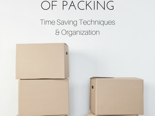 Moving Tips: Take the Stress out of Packing || Why make packing to move stressful? Here you will find useful techniques that will help keep you sane during this crazy time. || Yellow Rose Life ||