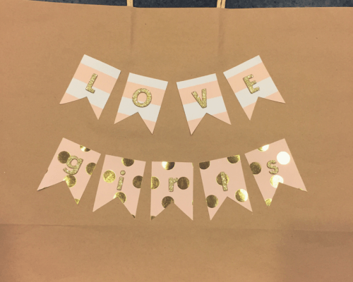 Personalized Gift Bag || Homemade gift bags really say you care, and are fun! Baby Girl, Shower Gift, Baby Shower || Yellow Rose Life ||