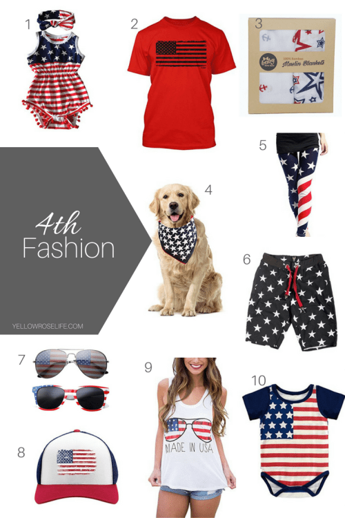 4th of July Fashion || Yellow Rose Life ||
