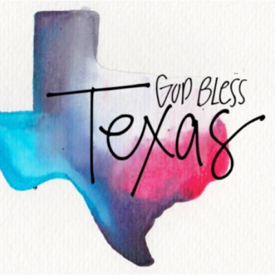 Graphic by Sissy Hamilton, Hurricane Harvey, God Bless Texas