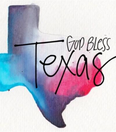 Graphic by Sissy Hamilton, Hurricane Harvey, God Bless Texas