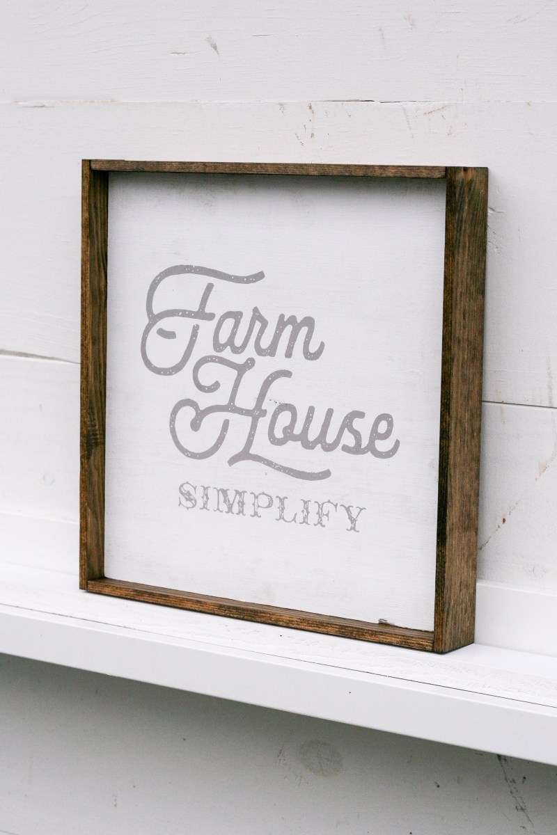 Farmhouse Simplify