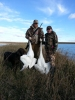 Sara Baier and Kyle McCall with their 2015 Tundra Swans