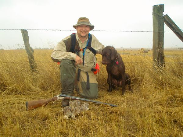 Gunnr and Todd with their take from the Upland Opener of 2008.