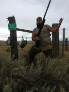 Brad Harthun after an upland hunt.
