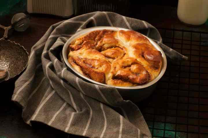 Homemade Cinnamon Buns with Sugar Glaze