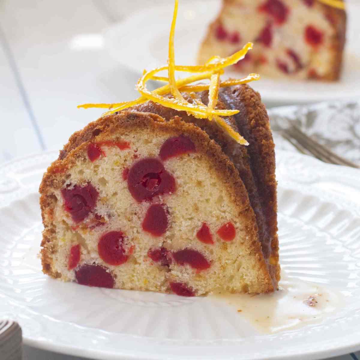 Cherry & Orange Pound Cake