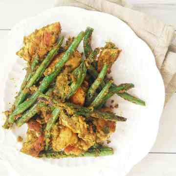 Chicken and Beans in Green Olive Tapenade