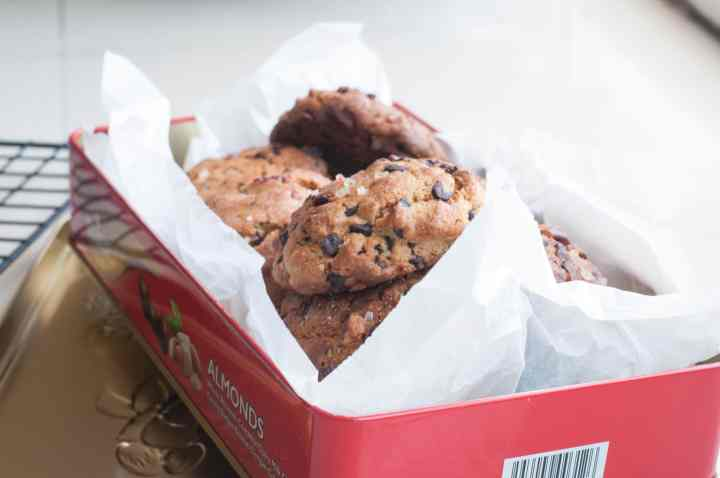 Healthy and Refined flour free Chocolate Chip Buckwheat Cookies