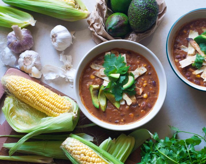 Mexican Tortilla Soup with easily available Indian ingredients
