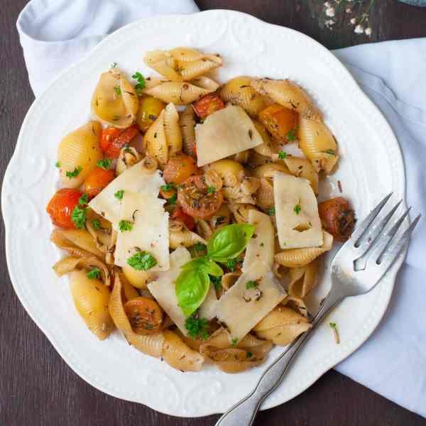 Pasta in Butter Garlic Sauce- Quick Recipe