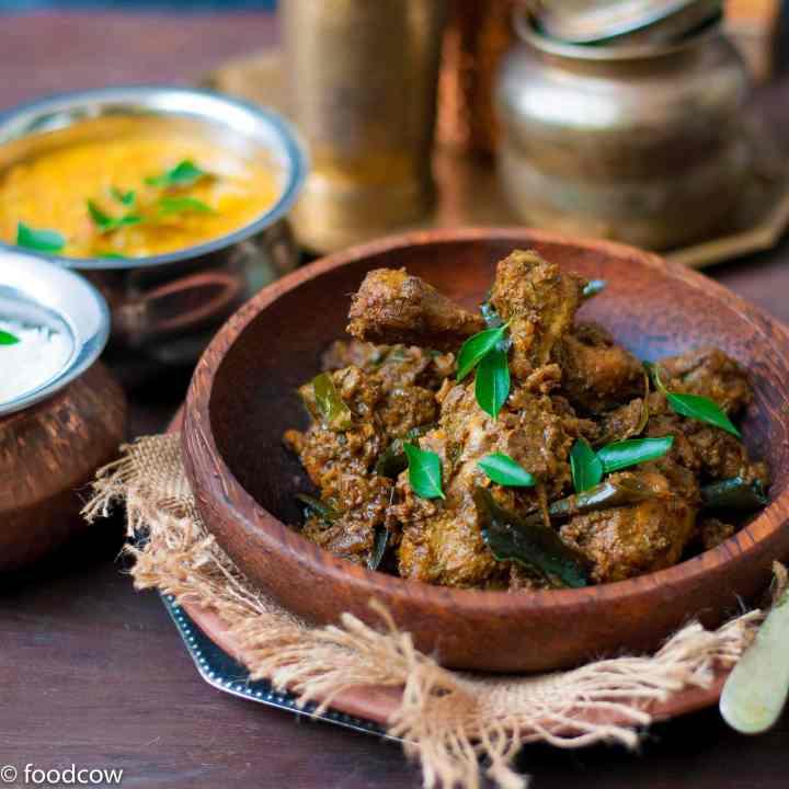 Malabar Chicken Peralan - Kerala Style Chicken Roast
