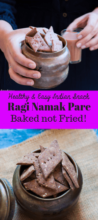 Baked Ragi Namak Pare - Easy to make, crunchy and tasty , healthy Baked Indian Savory Snack perfect for tea time. #ragi #indian #savory #snack #indiansnack #diwalifood