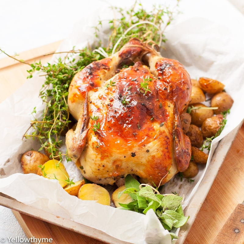 Buttermilk Marinated Roast Chicken