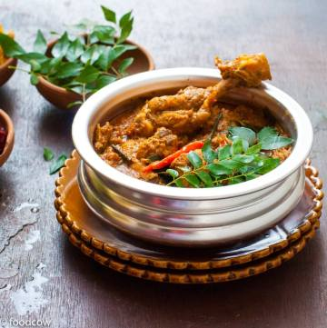 Everyday South Indian Chicken Curry with fresh Coconut and homemade spice mix