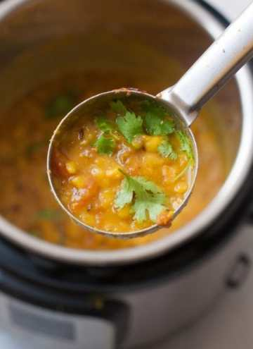 Instant Pot Toor Dal- Simple indian lentil recipe using split pigeon peas pressure cooked in Instant Pot.Basic Indian Recipe which is Vegan & Gluten Free. #instantpot #dal #indianinstantpotrecipe