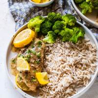 Instant Pot Lemon Garlic Chicken