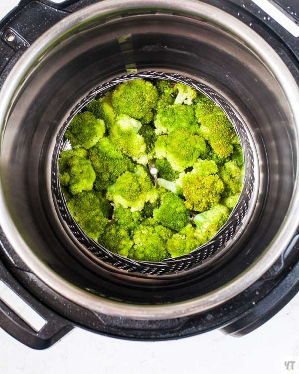 Steam Broccoli in Instant Pot using a steamer basket