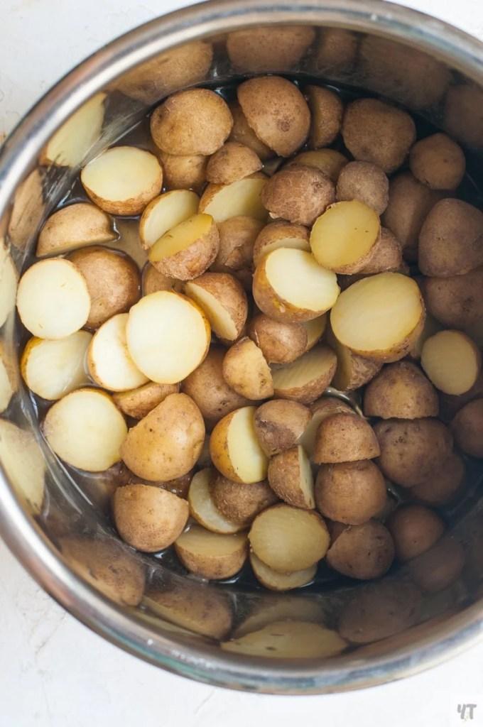Small Potatoes inside instant pot