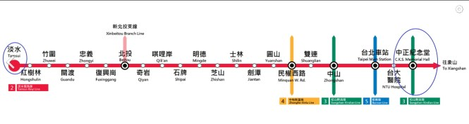 Train Line from Tamsui to Chiang Kai Shek