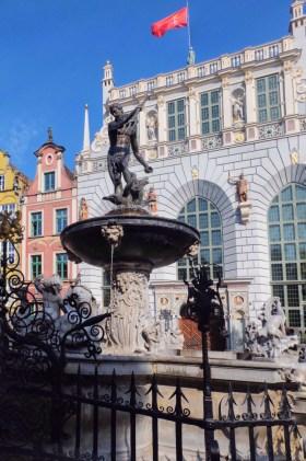 Neptune Fountain Gdansk Poland