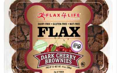 Flax4Life Dark Cherry Brownies
